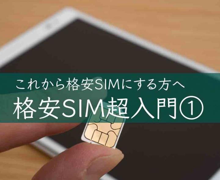 格安SIM のメリット、デメリット〜格安SIM超入門①〜