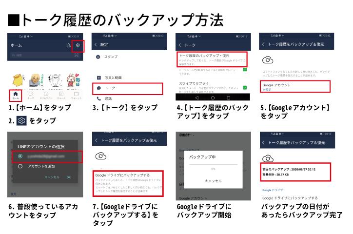 LINE 機種変更 Googleドライブ バックアップ-13