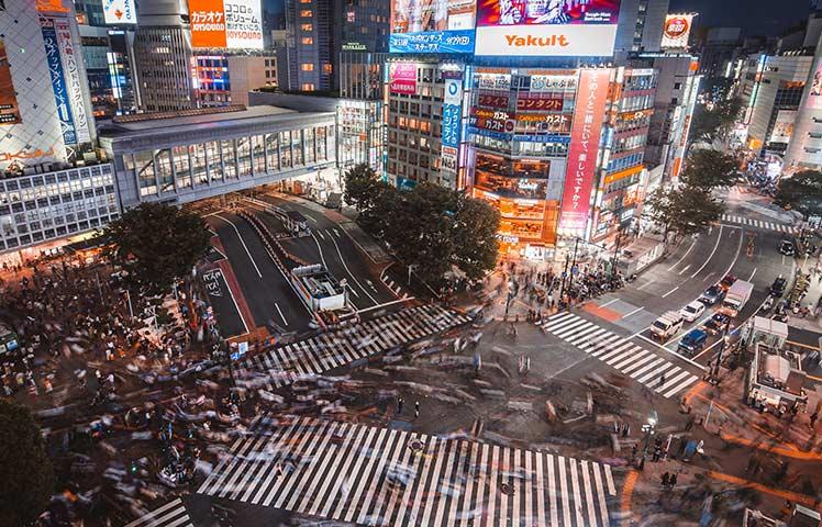 平日16時台渋谷