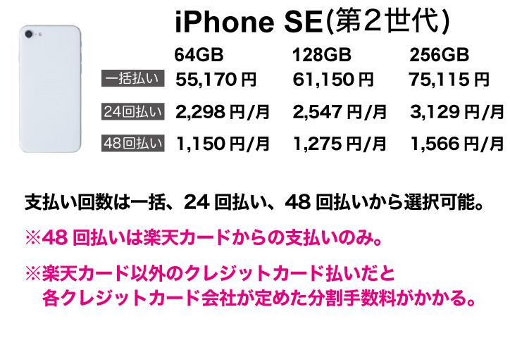 楽天 iPhoneSE